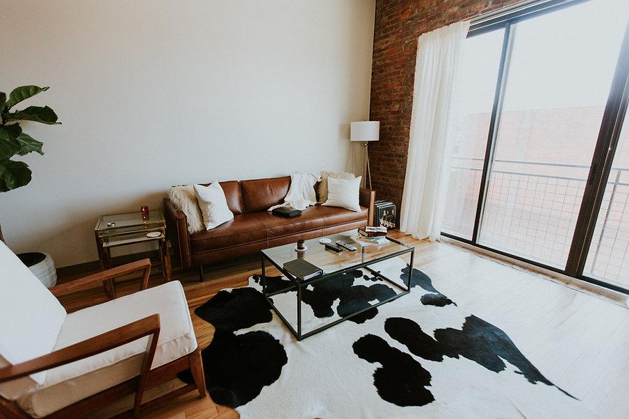 Sala de estar urbana