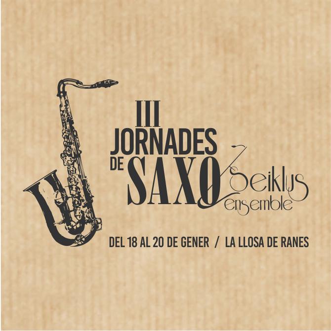 III Jornadas de saxo junto a Mariano García, Thomas Barthelemy y Joan Saldaña en los talleres de Jaz