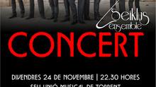 Concierto el próximo viernes 24 de noviembre a las 22:30h en la sede de la Unión Musical de Torrent
