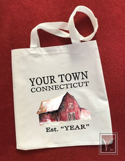 Your Town Name Red Barn Sample Image w L