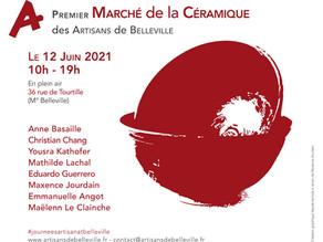 Samedi 12 juin : Le premier Marché de la céramique à Belleville !