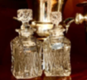 Silver Creek Antiques Locust Valley Crystal Decanters