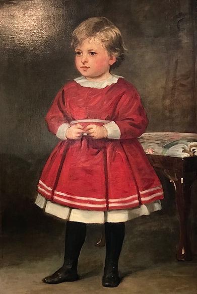 19th C Portrait of Child Silver Creek An