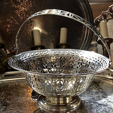 Sterling Silver Reticulated Basket Titan