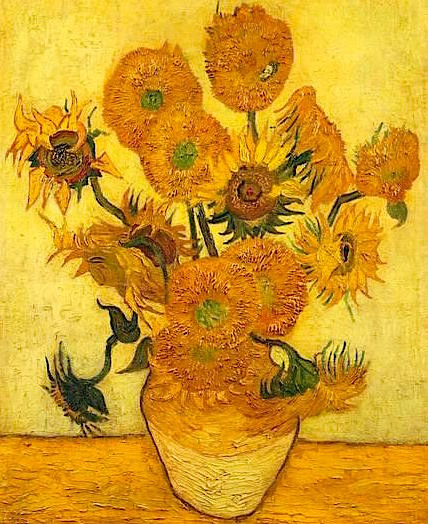 Vincent Van Gogh's Fifteen Sunflowers painted in 1889
