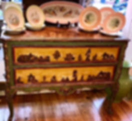 18th Century Venetian Painted and Decoupaged Commode
