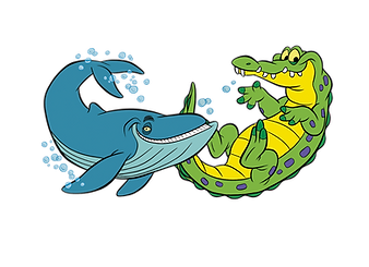 Crocodile / Whale