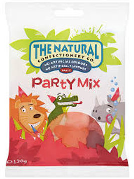 The Natural Confectionery Co Party Mix Hanging Bag 130g (Pack of 3)