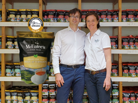 McEntee's Tea receives another Gold this year for its Afternoon Blend in the Blas na hEireann Irish