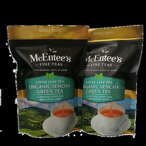 McEntees Organic Sencha Green Tea - Twin Pack (2x150g bags)