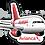 Thumbnail: Adesivo Silhueta Airbus A319 CFM Avianca Brasil new colors