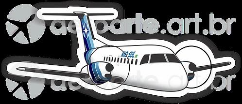 Adesivo Silhueta Embraer EMB-120 Brasília Rio-Sul