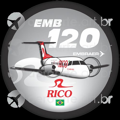 Adesivo Bolacha Embraer EMB-120 Brasília Rico