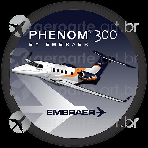 Adesivo Bolacha Embraer Phenom 300