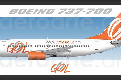 Adesivo Perfil Boeing 737-700 GOL 2ª Pintura