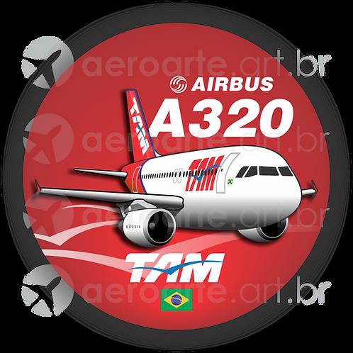 Adesivo Bolacha Airbus A320 CFM TAM