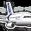 Thumbnail: Adesivo Silhueta Airbus A319 IAE