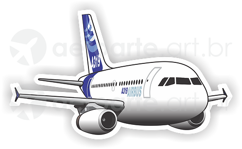 Adesivo Silhueta Airbus A319 IAE
