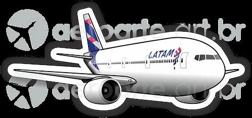 Adesivo Silhueta Boeing 777-300ER LATAM
