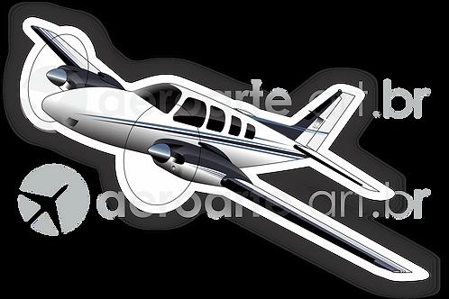 Adesivo Silhueta Beechcraft Baron 58