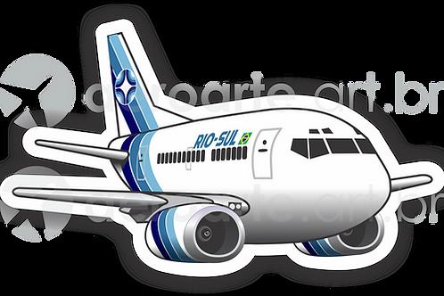 Adesivo Silhueta Boeing 737-500 Rio Sul