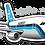 Thumbnail: Adesivo Silhueta Airbus A300 CRUZEIRO