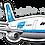 Thumbnail: Adesivo Silhueta Airbus A300 VASP