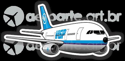 Adesivo Silhueta Airbus A300 VASP