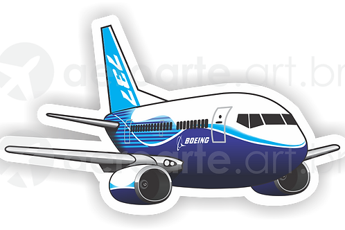 Adesivo Silhueta Boeing 737-700