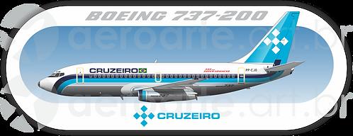 Adesivo Perfil Boeing 737-200 CRUZEIRO