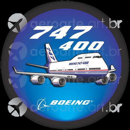 Adesivo Bolacha Boeing 747-400