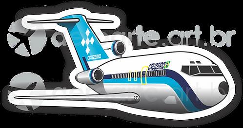 Adesivo Silhueta Boeing 727 Cruzeiro