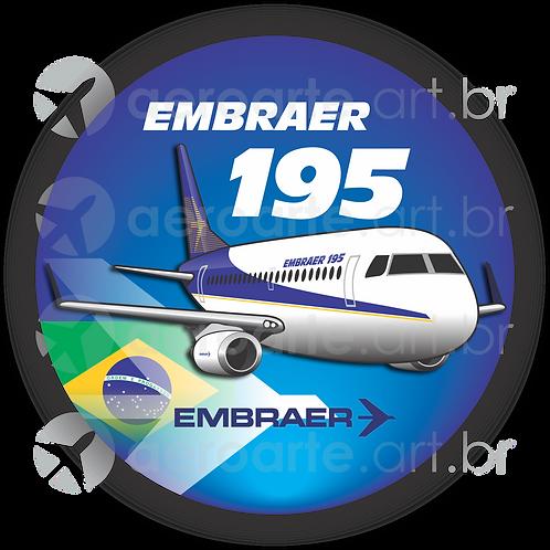 Adesivo Bolacha Embraer 195