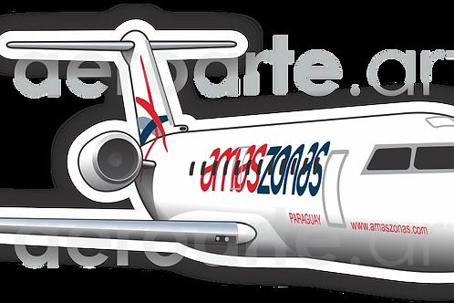 Adesivo Silhueta Bombardier CRJ-200 Amaszonas Paraguay