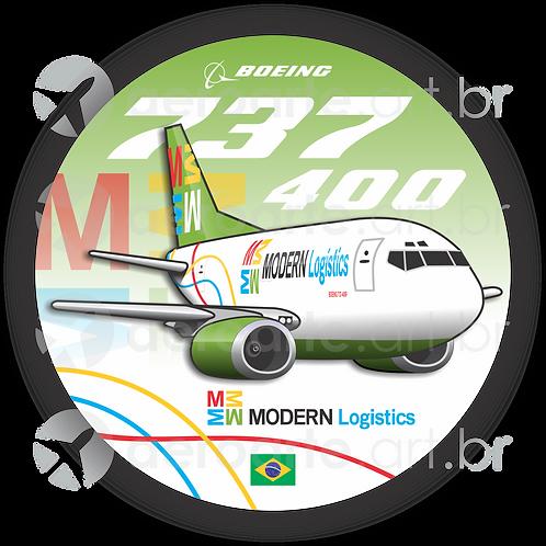 Adesivo Bolacha Boeing 737-400F Modern