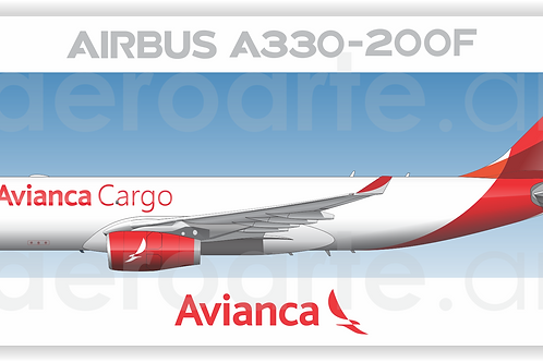 Adesivo Perfil Airbus A330-200F Avianca Cargo