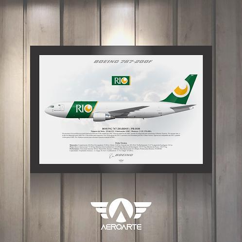 Pôster Perfil Boeing 767-200F RIO