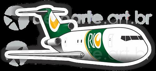 Adesivo Silhueta Boeing 727-200F RIO