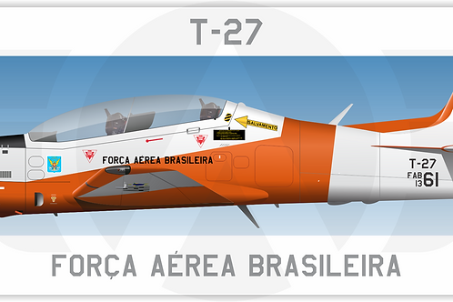 Adesivo Perfil Embraer T-27 FAB - Academia
