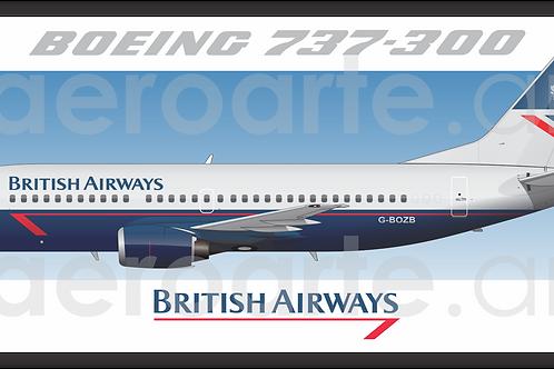 Adesivo Perfil Boeing 737-300 BRITISH AIRWAYS