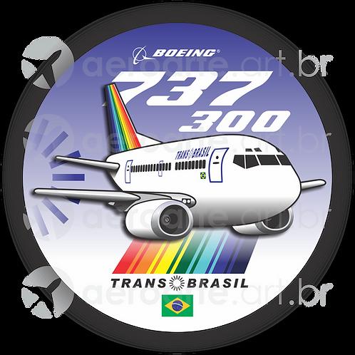 Adesivo Bolacha Boeing 737-300 Transbrasil 2ª Pintura