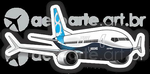 Adesivo Silhueta Boeing 737MAX 8