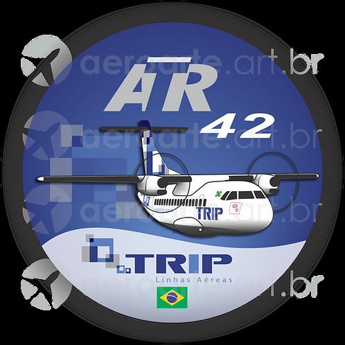 Adesivo Bolacha ATR 42 TRIP