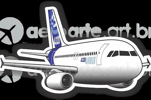 Adesivo Silhueta Airbus A320 IAE