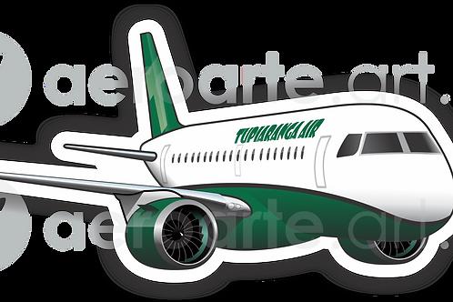 Adesivo Silhueta E190 E2 TUPIARANGA AIR