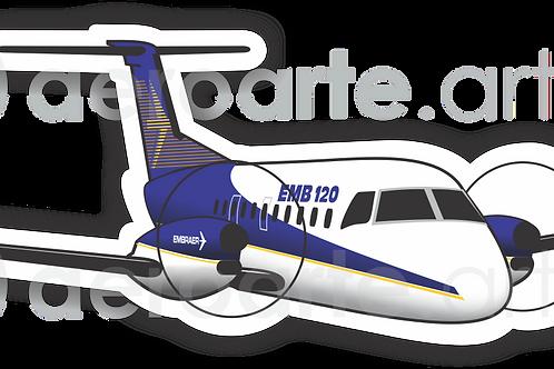 Adesivo Silhueta Embraer EMB-120 Brasília