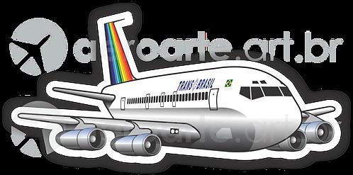 Adesivo Silhueta Boeing 707 Transbrasil