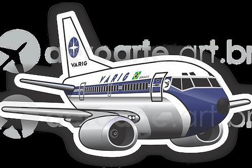 Adesivo Silhueta Boeing 737-300 VARIG 1ª Pintura