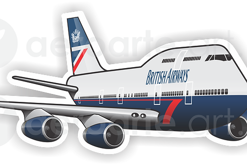 Adesivo Silhueta Boeing 747-400 BRITISH AIRWAYS - LANDOR