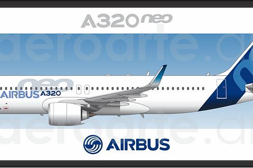 Adesivo Perfil Airbus A320 NEO